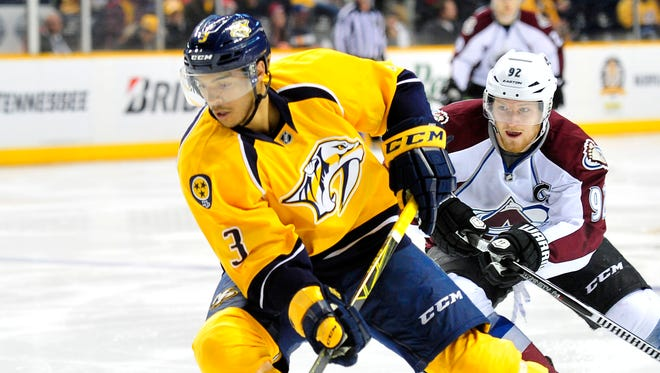 With Shea Weber out with a lower-body injury, Seth Jones has replaced him on Nashville's top defensive pairing.