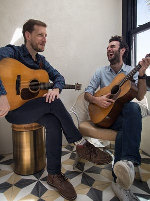 Chris Eldridge and Julian Lage share a bill with Aoife O'Donovan in Burlington on Sunday.