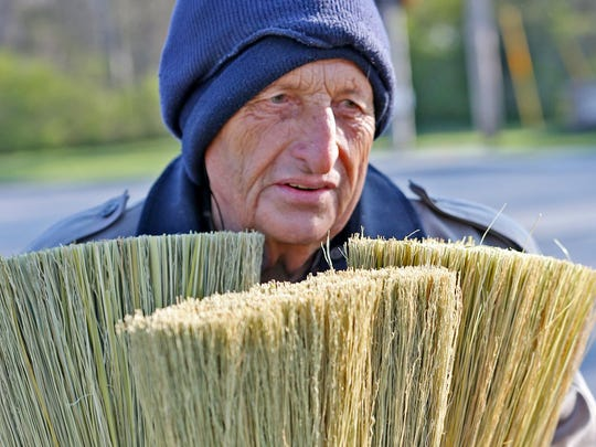 """""""Broom Guy"""" Jim Richter has been allowed to return to north-side post offices to sell his brooms."""