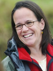 """Julie Moore, pictured as the """"lake czar"""" in September"""
