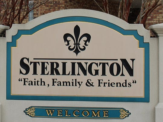Sterlington town sign