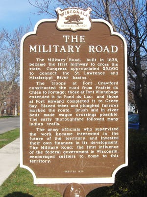 A historic marker placed at West Second Street and Military Road  tells the story of this route through Fond du Lac.