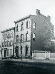 A vintage photo of the historic York City brownstone