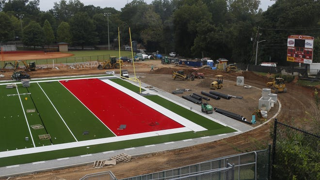 The new turf field at Clarke Central High School in Athens, Ga., Thursday Sept. 24, 2020. The Clarke Central Gladiators will play their first game on their new field this Friday, October 9.