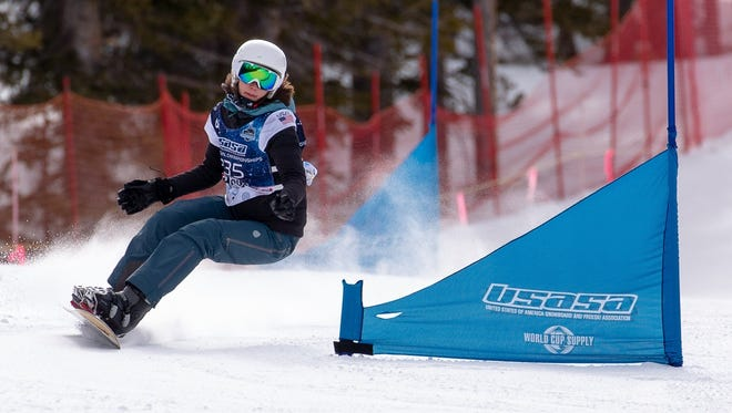 Tate Harkness of Mount Shasta High School competes in giant slalom at the USASA Nationals last week in Copper Mountain, Colorado.