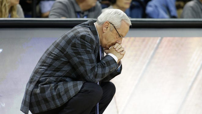 FILE - The NCAA has charged North Carolina with five violations connected to the school's long-running academic fraud scandal, including a lack of institutional control for poor oversight of an academic department popular with athletes.