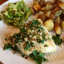 Simple Roasted Halibut with Parsley Salad