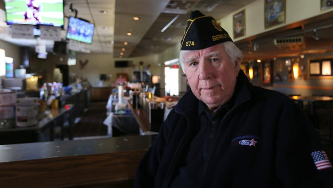 Tom Bustance, commander of American Legion Post 374 in Berkley, poses for a photo Tuesday, Oct. 11, 2016. Bustance and the Berkley social club for military veterans are taking a stand against football players taking a knee during the national anthem.