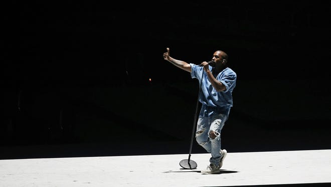 Kanye West performing in Toronto in July 2015.