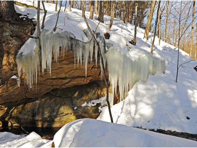 Ice formations at Governor Dodge State Park in February