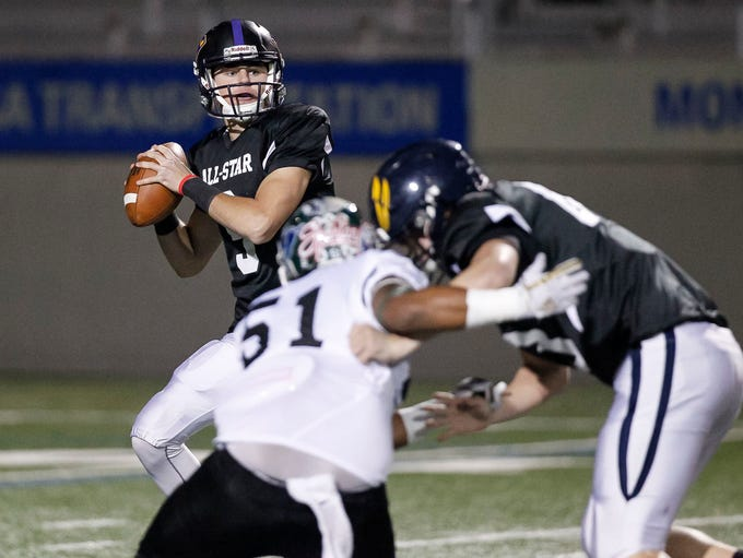 Salinas' Brett Reade, playing for playing for team