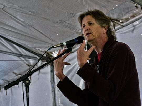 Andy Offutt Irwin is featured at the 2014 Four Corners Storytelling Festival at Berg Park.