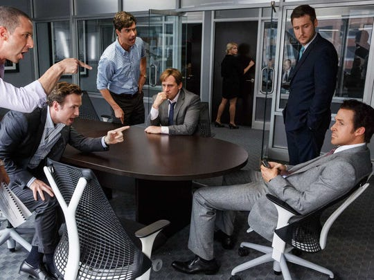 """Ryan Gosling (left) stars in """"The Big Short,"""" a film about the housing market crash of 2008."""