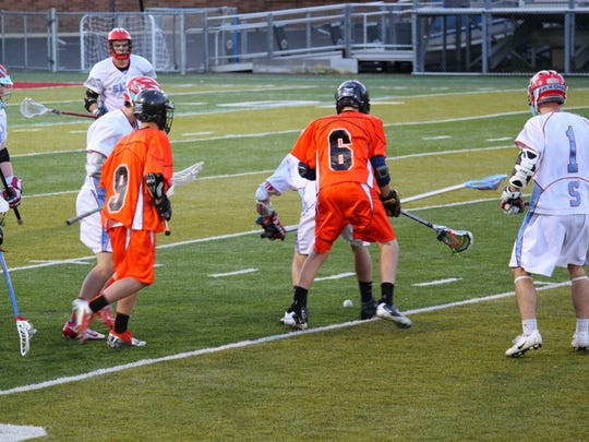 Connor James, wearing the No. 6 jersey, was a member of the Sprague High School lacrosse club for four years. He was a first-team North Valley All-Conference midfielder his senior year in 2015.