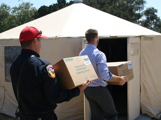 SVMHS delivers supplies to Toro Park Command Center