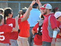Fannett-Metal softball coach Michael DeAngelo (right) turned the program into a District 5 contender in just three years at the helm. He is the P.O. Softball Coach of the Year,