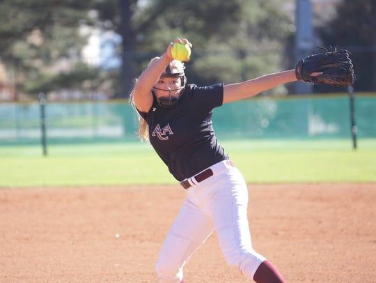 ACA pitcher Lacey Spear