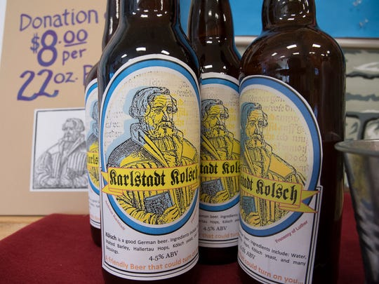 Some of the beer that will be available at Christkindlmarkt at Christ Lutheran Church this week.