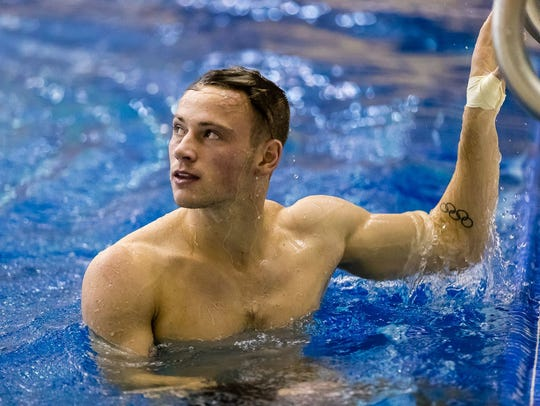 Steele Johnson became the fourth diver in Big Ten history