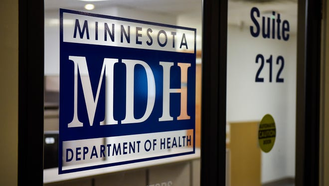 The Minnesota Department of Health office shown Monday, April 30, in Midtown Square.