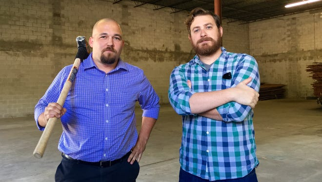 Kyle Cebull, left, and Logan Roberts are opening Millennial Brewing Co. in downtown Fort Myers.