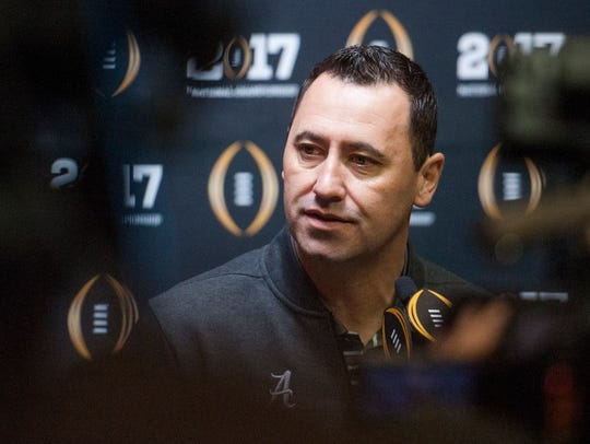 Alabama offensive coordinator Steve Sarkisian talks