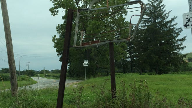 Longtime reader Dale Boyce has been wondering about this sign, at the corner of East Prospect and Freysville roads in Windsor Township.