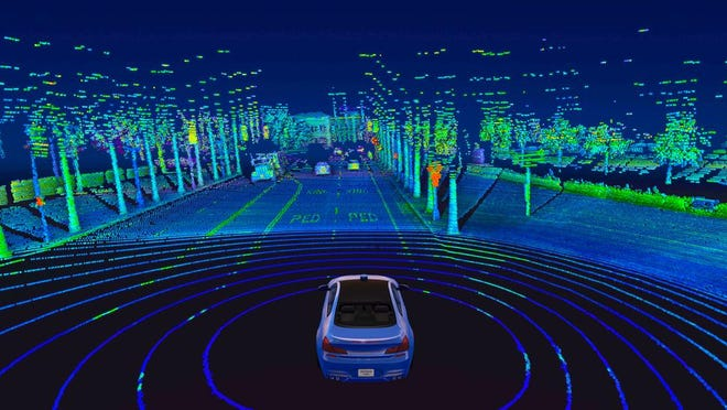 Velodyne Lidar's Alpha Prime™ sensor provides real-time 3D vision that allows autonomous vehicles to see their surroundings.