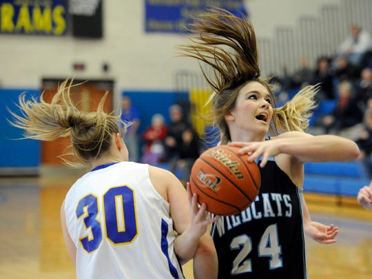 Katie McGowan (24) and the Dallastown girls' basketball team are off to an 8-2 start this year. The team was 12-12 last winter. (Daily Record/Sunday News -- Jason Plotkin)