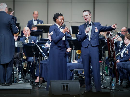 The United States Air Force Concert Band and Singing