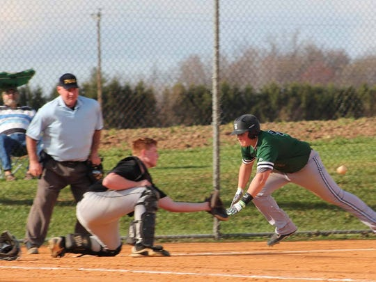 The James Buchanan baseball team started the season with a bang, earning a 15-0 win over Biglerville, Friday.