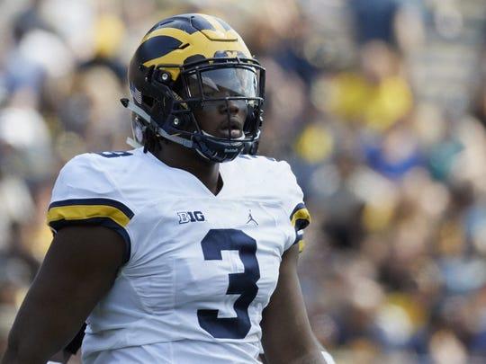 Michigan defensive end Rashan Gary.