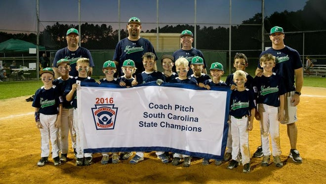 Northwood Blue went 7-0 to win the South Carolina Little League Coaches Pitch baseball state championship in Summerville.
