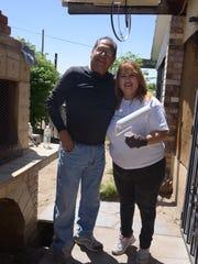 Hector Sambrano, left, and Martha Baca