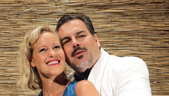 "Amber Duimstra and Edward Corpus star in ""South Pacific"" through Sept. 28 at the Des Moines Community Playhouse."