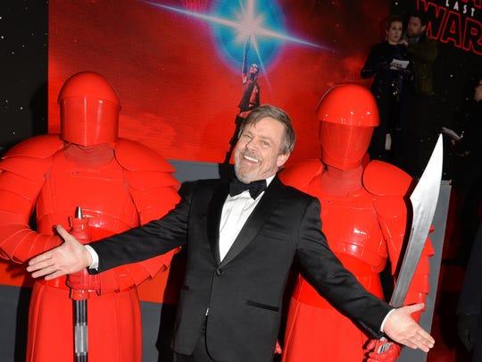 Actor Mark Hamill, who returns as Luke Skywalker, attends