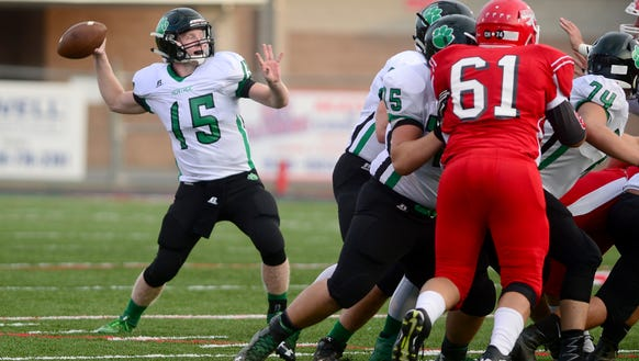 Mountain Heritage's offensive line has allowed Trey