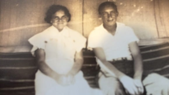 This photo of Wayne Clark (right) with his sister,