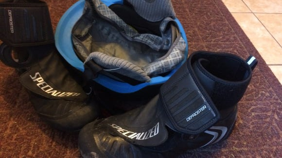 Cycling in the winter is a pain no matter what. But this year the addition of winter-specific boots and helmet makes it a little more tolerable.