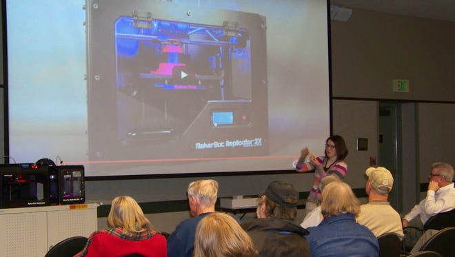 The Library Center held a free class on 3-D printing Saturday. Another session is scheduled for April 25.