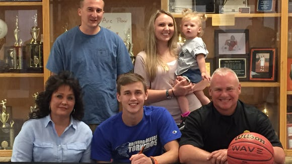 Rosman senior Zach Stroup has signed to play basketball for Brevard College.