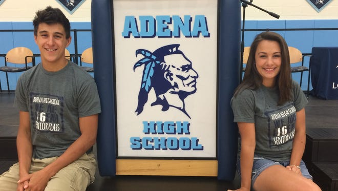 Nathaniel and Elle Lamb will both go on to study business at the Ohio State University after graduating from Adena High School on Saturday.