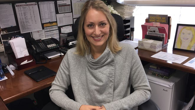 Kat Vosters is in her third season as the Wisconsin men's basketball operations director,