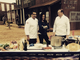 Michelle Branch on set with chefs Michael Mina and