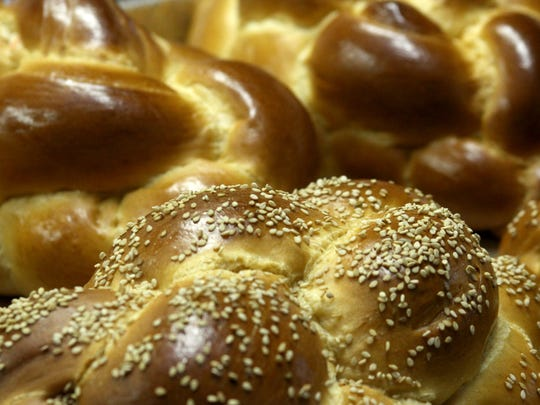 Challah bread at Salomon's Kosher Bakery in Manalapan.