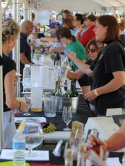 Many local breweries and wineries during the 2013 Dig IN, a celebration where local chefs, restaurants and brewers come together in White River State Park.