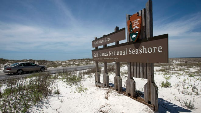 Fort Pickens Road in the Gulf Islands National Seashore