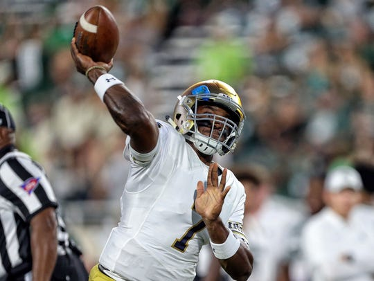 Brandon Wimbush has been explosive in the running game,