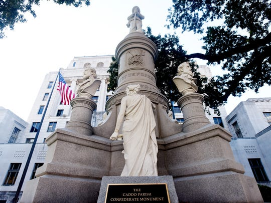 The Caddo Parish Confederate Monument.