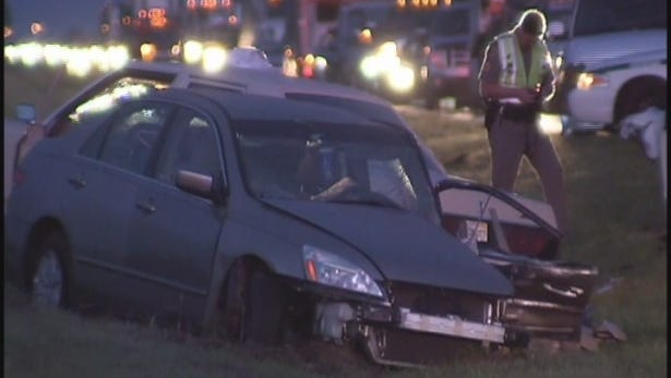At least one person was killed in a crash Friday night on State Road 82 in Collier County.